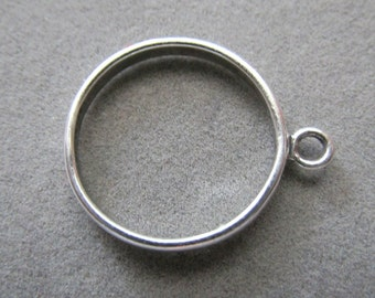 Solid Sterling Silver Loop Ring Size 7