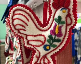 Embroidered Rooster - Matyo style