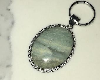 Aquamarine Gemstone Keychain