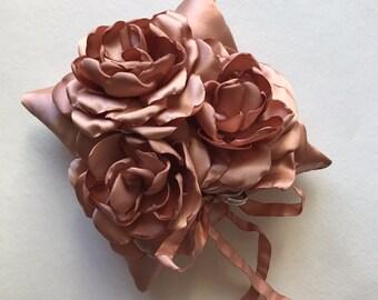 Rose Gold Ringbearer Pillow