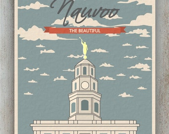 Nauvoo Temple Clouds Poster