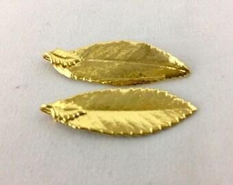 24k gold filled Earring making Leaf I 24k gold filled Aspen Leaf Earring set I Aspen Leaf Earring Set I Earring ser I Aspen Leaf Earring set