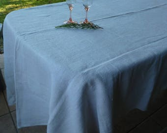 "Vintage French Linen Hemp Rustic Harvest Table Cloth 100"" x 55"" 254 x 140 cm"