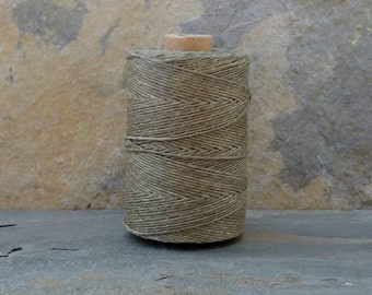 4 Ply Olive Waxed Irish Linen Thread 10 Yards WIL38,olive linen thread,khaki linen thread,waxed linen thread,bookbinding thread,