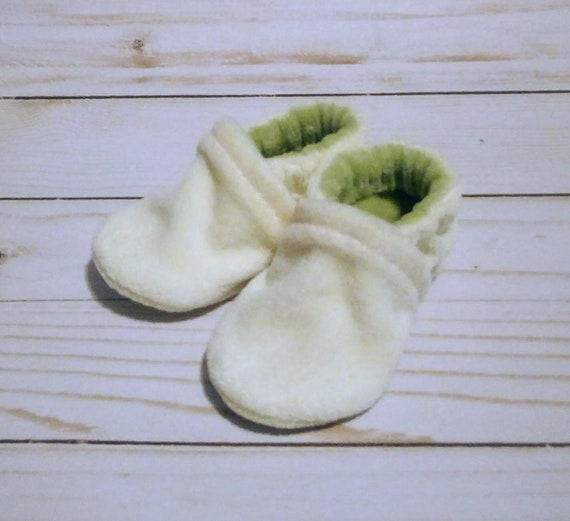 Cream & Sage: Soft Sole Baby Shoes 0-3M