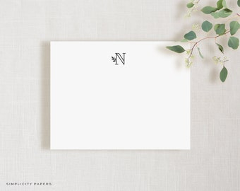 Personalized Note Card Set // Doodlet // Stationery for Her // Monogram