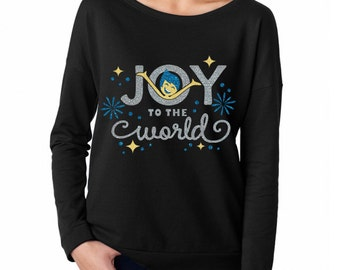 Joy To The World - Inside Out Shirt - Christmas Shirt -  Christmas Glitter Shirt