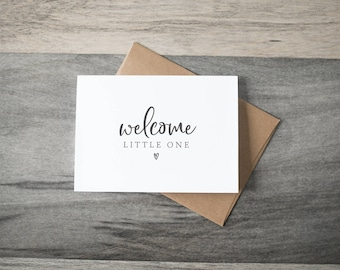 Baby Card - Welcome Litte One