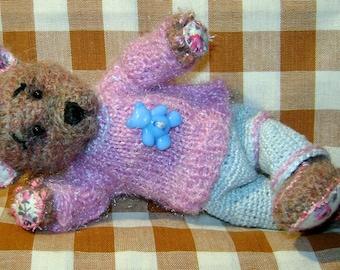 Cute small OOAK bear- Amigurumi