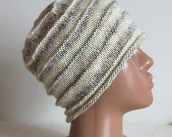 Knit beanie hat Woman knit hat Slouchy hat Slouchy beanie Women spring hat Wool hat Knit hat Women hat Gray hat Casual hat