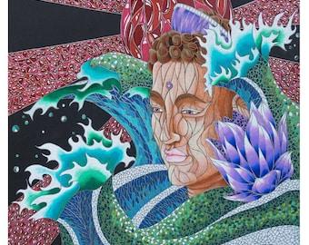 ORIGINAL art The Calling for Inner Peace