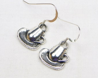 Cup And Saucer Earrings - Coffee Lover - Gift For Coffee Lover - Dangle
