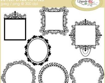50%OFF Digital frames clip art, digital lace frames, lace clip art, digital photo frames, digital label frame, scrapbooking frames, F6