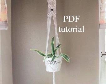 macrame pattern, macrame how to, macrame plant hanger pdf, macrame tutorial,  macrame PDF, macrame patterns, download, plant hanger download
