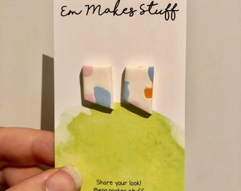 Odd Mod mini abstract stud earrings