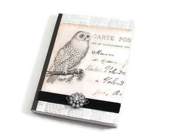 Mini Journal, Small Journal, Owl Journal, Writing Notebook, Pocket Journal, Password Notebook, Dream, Meditation, Travel, Milage Notebook