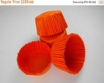 TAX SEASON Stock up 50 Pc Pretty Orange Cupcake Liners 2X1.25 Inch Size Perfect for Parties
