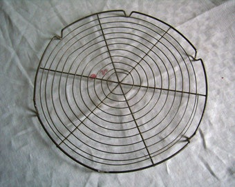 Cooling rack metal wire vintage French birdcage cake holder, grid wire cake rack 11 ""