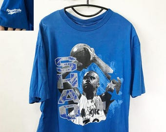 Vintage Shaquille O'neal Shirt Size XL Free Shipping 90s Shaq Orlando magic By Reebok Basket Ball NBA