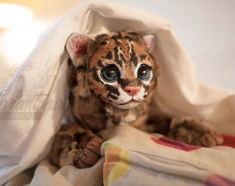 Ocelote Baby - cute posable wild cat