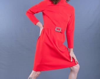 Mod BLEEKER St. Dress, Vintage 1960's / 1970's Scooter Girl Dress, size Small, 4-6