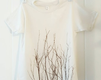 Winter Twigs Organic kids t Shirt