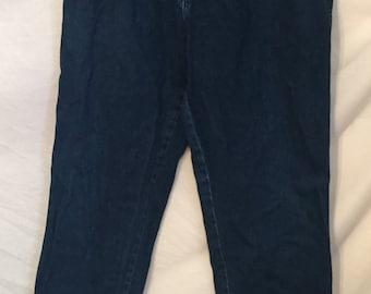 1980's 1990's Vintage dark blue Wrangler denim jeans 33 waist
