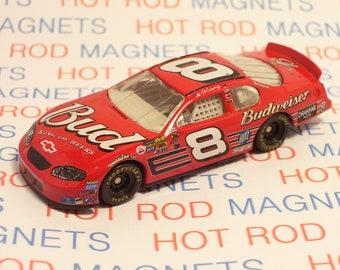 NASCAR : Dale Earnhardt Jr #8 Budweiser, Chevy Monte Carlo, Hot Rod, Man Cave, Refrigerator, Tool Box, Garage, Magnet