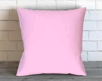 Solid Light Pink Pillow, Light Pink Pillow Case, Light Pink Bedding, Pink Cushion, Pink Decor, Pink Toss Pillow, Pink Bedding, Pink Room