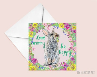 Don't worry be hoppy greetings card