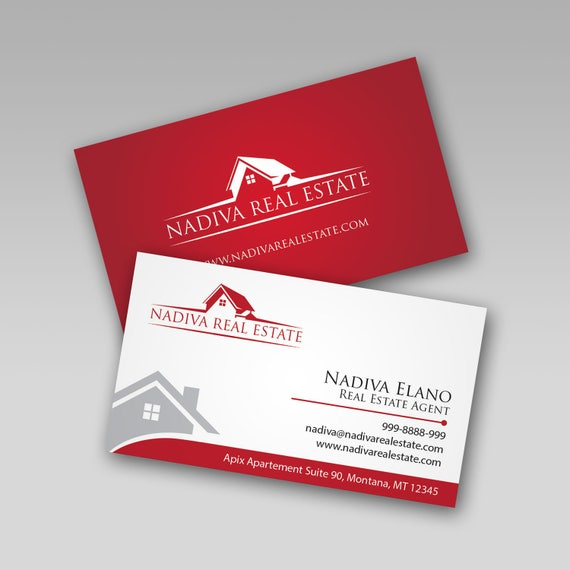 Real estate business card design real estate marketing reheart Gallery