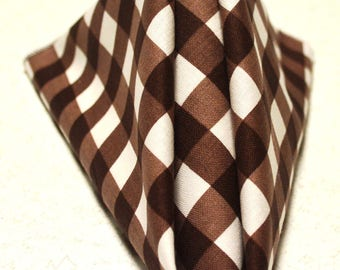 "14"" x 14 Brown Gingham Cloth Napkins"