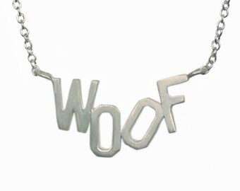 Woof Necklace in Sterling Silver