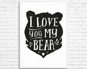 I love you my bear! - poster