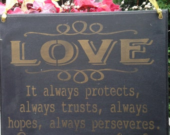 Love,It always protects,always trusts,always hopes,always perseveres,love never fails,bible verse,1 Corinthians 7,8;christian marriage,