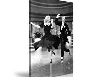 Swing Time Ginger Rogers Fred Astaire Film Canvas Wall Art Picture Print 50x76cm