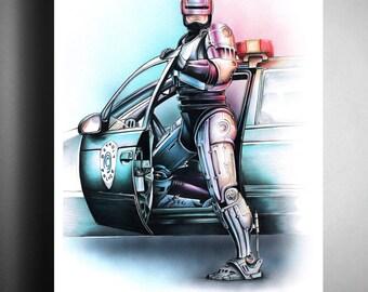 Robocop - Illustrated Giclee Print