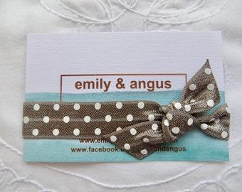 Silver polka dot elastic hair tie | hair elastic | hair bobble | bohemian bracelet