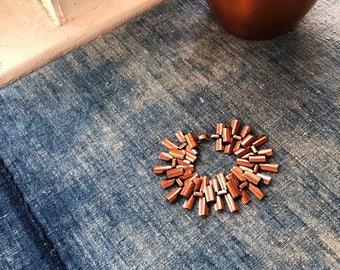 Vintage Signed Renoir Copper Link Bracelet, 1950's, Modern Era, Signed