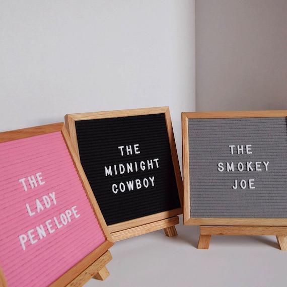 Buchstabe Board Set mit Display Staffelei 290 Buchstaben