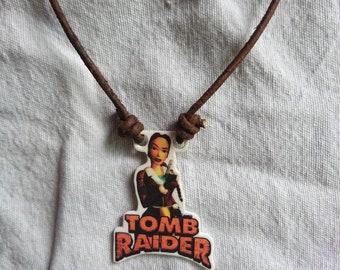 Lara Croft Tomb Raider Adjustable Rope Necklace