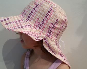 Adjustable Sun Hat baby hat toddler hat baby sunhat toddler sunhat baby legionnaire hat legionnaire cap baby gift- Word Finding Pink Purple
