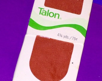 Vintage TALON 2 inch wide by 4 3/4 yards MAPLE Coral Pink Satin colored blanket binding
