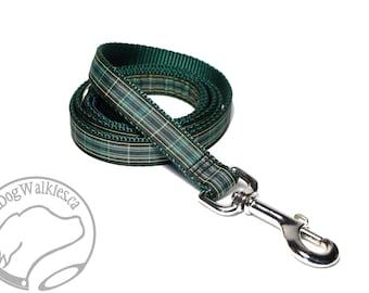 Celtic FC Tartan Leash // Matching Tartan Dog Leash in two widths // custom lengths // Plaid Leashes // Tartan Lead // Football Tartan