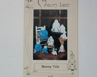 Rabbit Craft Pattern, Uncut 3 Sizes, Display Bunnies