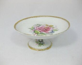 Japanese Porcelain Pedestal Serving Plate, China Serving Plate, Royal Sealy Japan, FREE SHIPPING