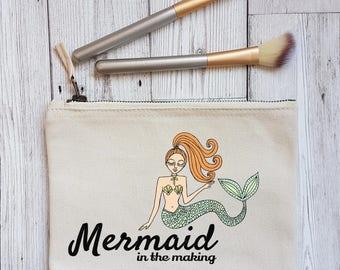 Mermaid in the Making Makeup Bag