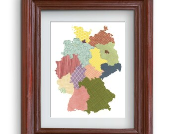 Germany Map Collage Print {Digital}
