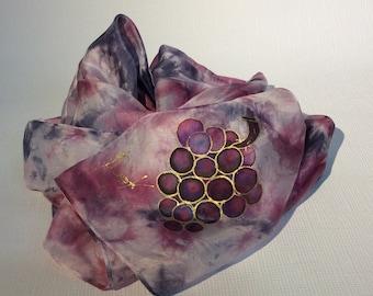 Silk hand painted scarf Batik