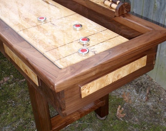 Shuffleboard Table in Walnut and Burl (Or Curling Table, eh?)
